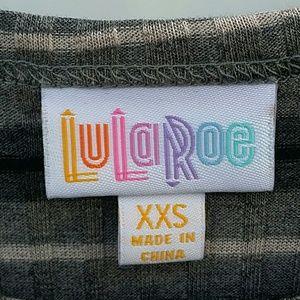 LuLaRoe Dresses - LuLaRoe Carly Dress Gray Black White Stripe XXS